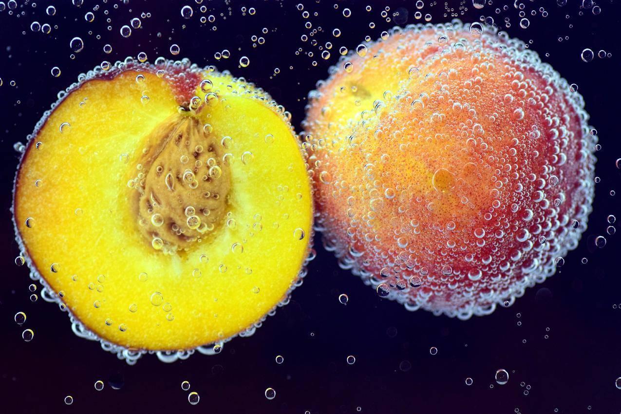 桃,水果,吃,美味,红色,黄色,甜,成熟,健康,石果,美味的桃子,多汁,6K水果图片