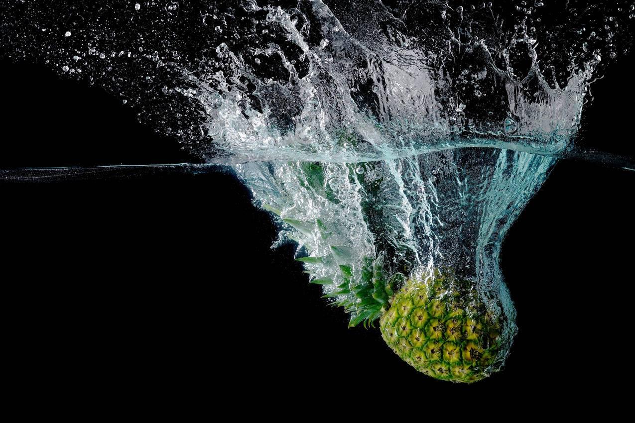 飞溅,菠萝,5k图片
