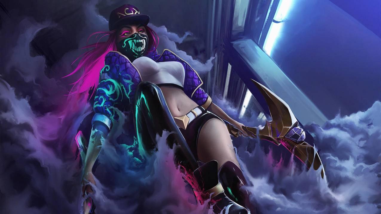 lol阿卡丽kda,League,of,Legends英雄联盟4k游戏壁纸3840x2160