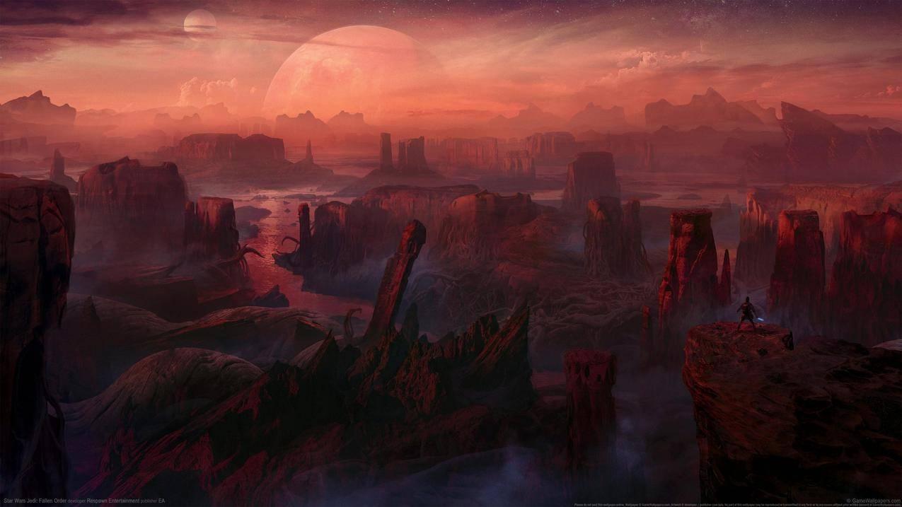 星球大战绝地陨落的武士团,精美游戏风景4k壁纸