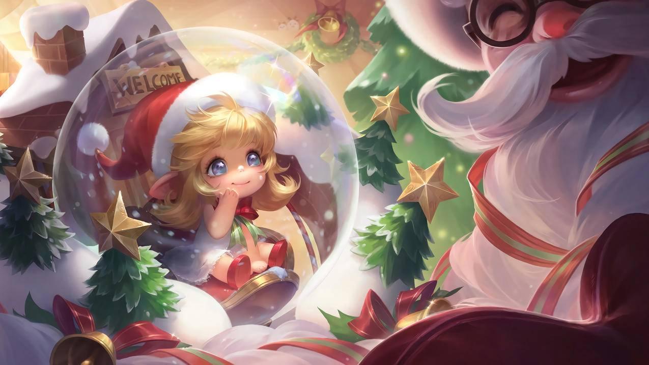 奇迹圣诞-蔡文姬,王者荣耀,4k桌面壁纸