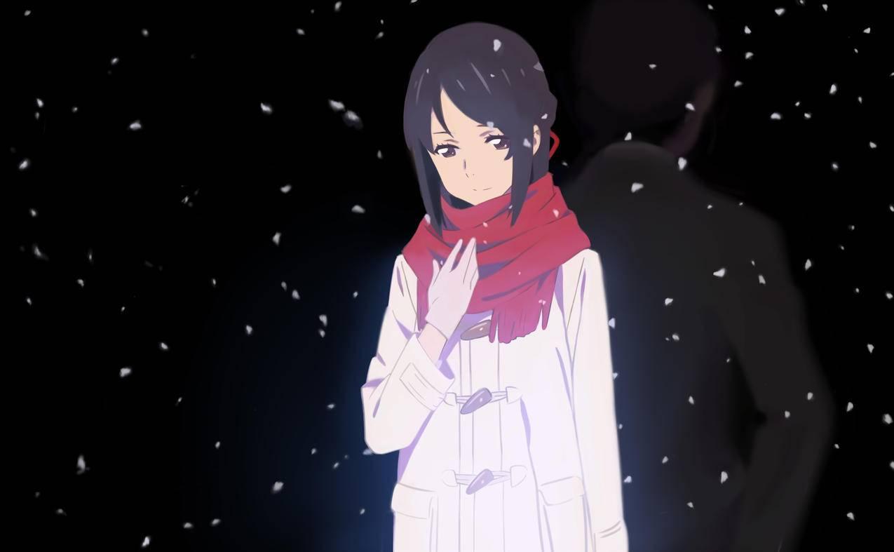 你的名字,雪中,三叶,6k动漫高清壁纸