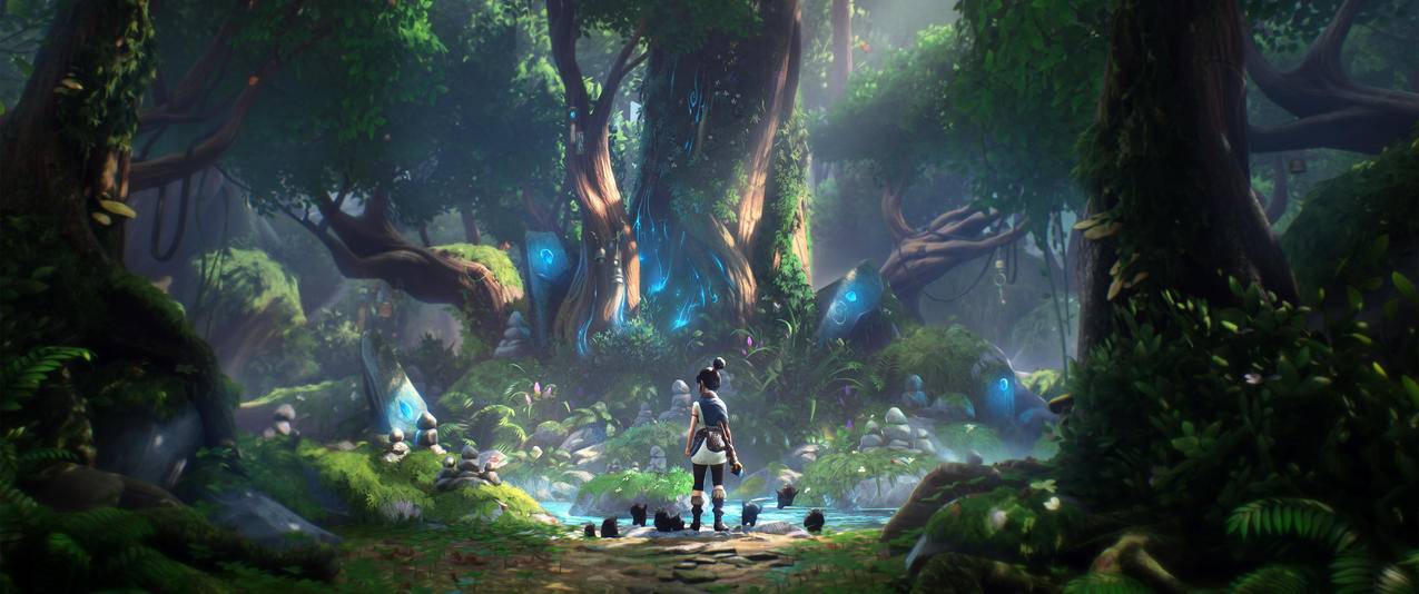 柯娜 精神之桥 Kena Bridge Of Spirits 3440x1440 带鱼屏游戏壁纸 千叶网