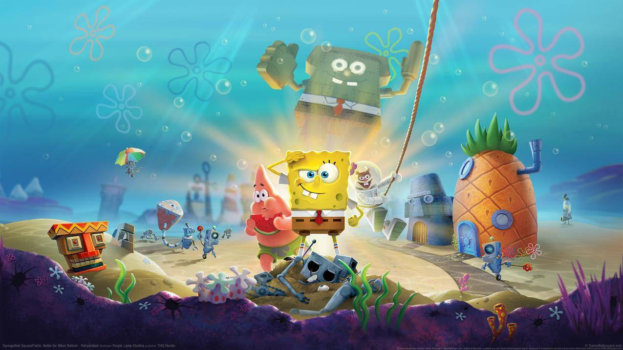 Spongebob Bottom Rehydrated 海绵宝宝 比奇堡的冒险 4k游戏壁纸 千叶网