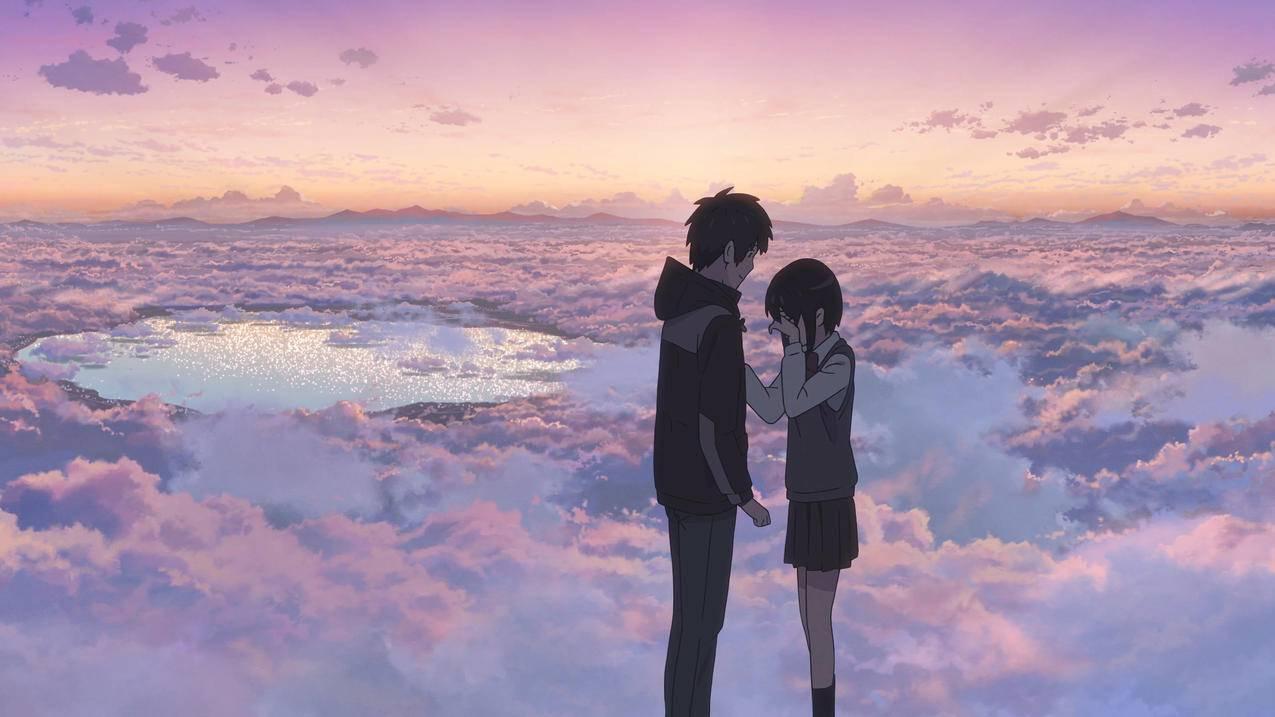 《你的名字》天空,云,恋人,4K高清动漫壁纸